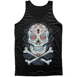 tank top floral skull