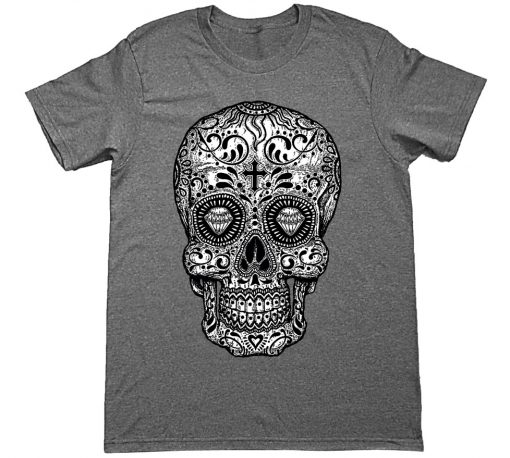 black and white sugar skull