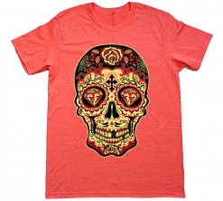 day of dead sugar skull red