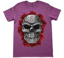 ornate skull with roses