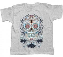 playera Floral skull