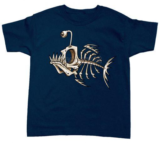 playera pez esqueleto