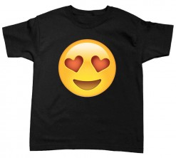 playera de niño emoji corazones