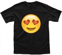 playera de hombre emoji corazones