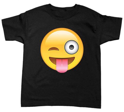 playera de niño emoji guiño