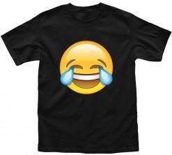 playera de hombre emoji risa